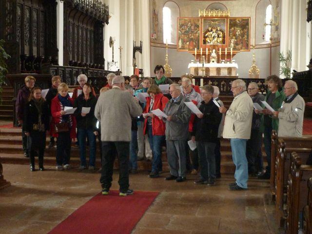 Kleine musikalische Einlage in St. Zeno in Bad Reichenhall.